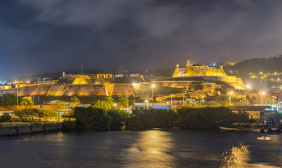 Castillo San Felipe de Barajas an iconic fortress in Cartagena, Colombia.
