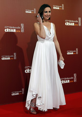 Actress Elsa Zylberstein poses as she arrives at the 41st Cesar Awards ceremony in Paris