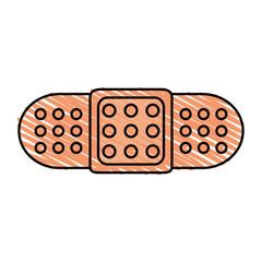 color crayon stripe cartoon band aid element health vector illustration