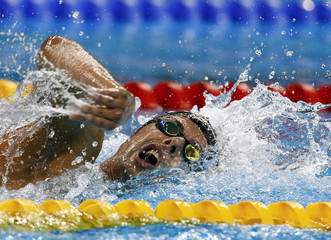 Italy's Pizzetti competes in men's 1500m freestyle heats at 14th FINA World Championships in Shanghai