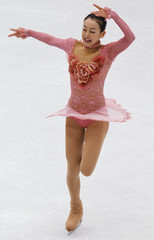 Asada of Japan performs during the ladies short program competition at the ISU Four Continents Figure Skating Championships in Jeonju