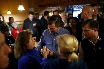 U.S. Republican presidential candidate Ted Cruz attends a campaign event in Keene