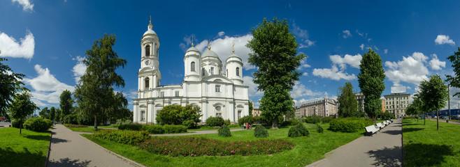 North Europe, Saint Petersburg, Leningrad, Neva River, Russia. Panorama