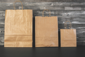 Brown shopping bags front
