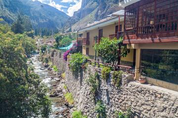 Stream in Ollantaytambo village, Sacred Valley of Incas, Peru
