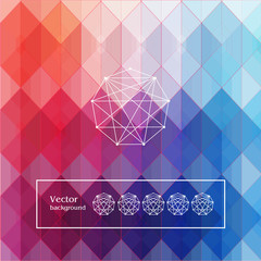 background with hexagons and squares red maroon pink blue purple with white geometric patterned