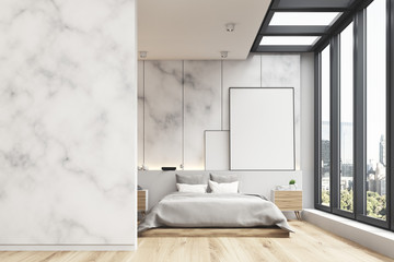 Marble bedroom interior