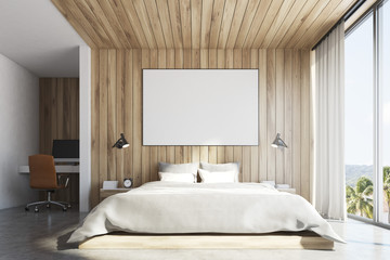 Eco wooden bedroom , front