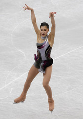 Japan's Kanako Murakami competes during the women's short program at the ISU World Figure Skating Championships in Saitama
