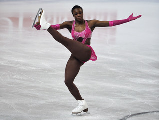Meite of France performs during the women's free skating programme at the European Figure Skating Championships at the Motorpoint Arena in Sheffield