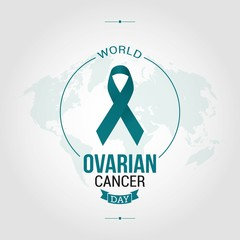 World Ovarian Cancer Day Vector Illustration