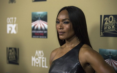 "Cast member Bassett poses at a premiere screening of ""American Horror Story: Hotel"" in Los Angeles"