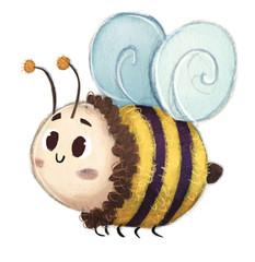 abeja volando feliz