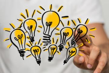hand idea lamp