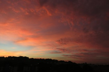 This is my first sunrise in Brazil pictured from the window of my hotel in Rio de Janeiro