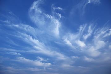 初夏から秋にかけてのはけ雲