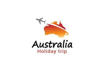 Australia flight airplane logo Creative Air Design Illustration