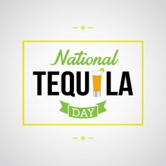 National Tequila Day Vector Illustration