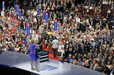 Radio talk show host Laura Ingraham speaks during the third session of the Republican National Convention in Cleveland