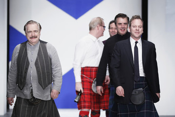 """Actors walk in the 2011 """"Dressed to Kilt"""" charity fashion show in New York"""