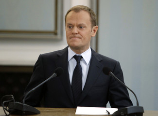 Poland?s Prime Minister Donald Tusk testifies in front of the Gambling Commission at the polish parliament in Warsaw