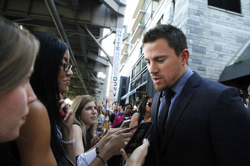 "Actor Tatum speaks to reporters at the premiere of ""White House Down"" in Washington"