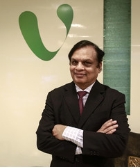 Videocon Group Chairman Venugopal Dhoot poses for a picture at the company corporate office in Mumbai