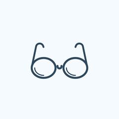 Sunglasses vector flat icon. Vector sign symbol.