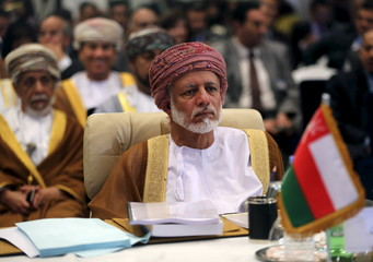 Omani Foreign Minister Yusuf bin Alawi bin Abdullah attends a meeting of Arab foreign ministers in Sharm el Sheik