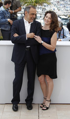 Jury members Mezzogiorno and Barbera pose during a photocall at the 63rd Cannes Film Festival