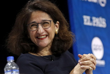 """Nemat Shafik, deputy governor at Bank of England, attends the """"Revisiting Monetary Policy Frameworks"""" session at the 2015 IMF/World Bank Annual Meetings in Lima"""