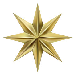 Golden eight-pointed star