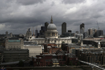 The view from a new viewing platform during the unveiling of the New Tate Modern in London