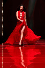 Actor Juliette Lewis takes part in the American Heart Association's Go Red For Women Red Dress Fall/Winter show during New York Fashion Week in the Manhattan borough of New York