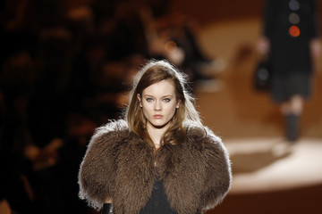 A model presents a creation from the Marc Jacobs Fall 2010 collection during New York Fashion Week