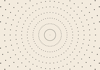 Round texture with dotted elements