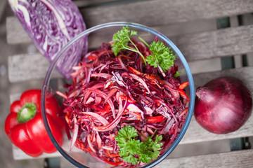 veg and salad bowl