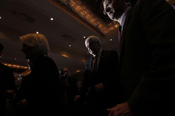 Supporters applaud U.S. Republican presidential candidate and former Speaker of the House Gingrich at his Florida primary night rally in Orlando