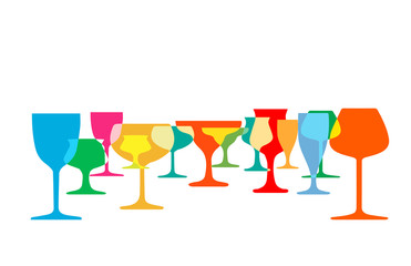 Glasses to alcohol vector