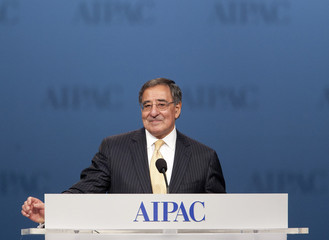 Leon Panetta, U.S. secretary of defense, speaks to the American Israel Public Affairs Committee (AIPAC) policy conference