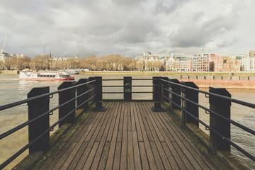 Pier at River Thames