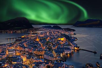 Fototapeten Skandinavien Ålesund