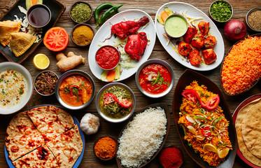 Assorted Indian recipes food various