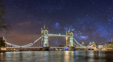 Tower Bridge in London during sunset