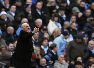 Watford's manager Sannino instructs his team during their English FA Cup fourth round soccer match against Manchester City in Manchester
