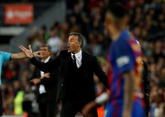 Football Soccer - Barcelona v Malaga - Spanish La Liga Santander - Camp Nou stadium