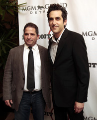 Executive Producers Zabel and Richman pose as they attend the premiere of new television series Detroit 1-8-7 in Detroit