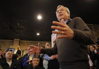 U.S. Republican presidential candidate Jeb Bush speaks during a campaign event in Florence