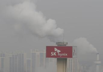 A SK Hynix plant is seen in Icheon