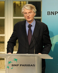 Baudouin Prot, BNP Paribas Chief Executive, speaks during the company's 2009 annual results presentation in Paris